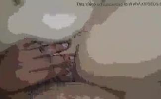 Mulher Grávida Branca Leva Um Trabalho De Sopro Em Todas As Posições Usando Sua Boca
